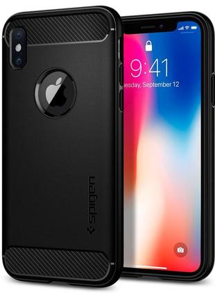 Чехол spigen rugged armor для iphone x xs новый оригинал