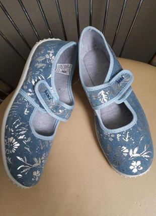 36 р. новые польские туфли балетки тапочки bama