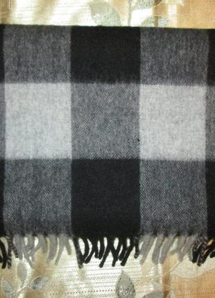 Большой кашемировый шарф в клетку