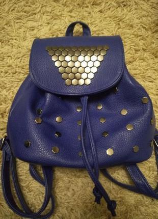 Рюкзак синий маленький прогулочный