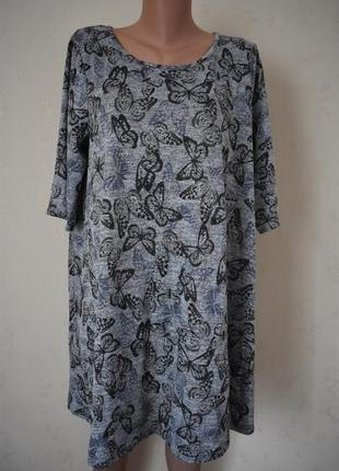 Платье с принтом бабочки большого размера george