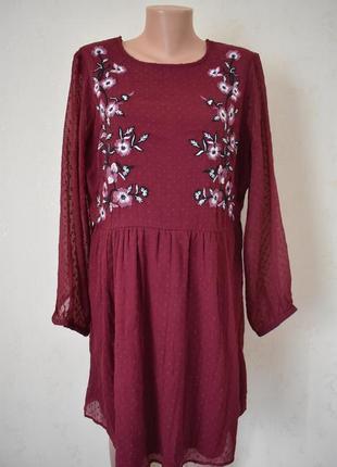 Красивое платье с вышивкой большого размера george