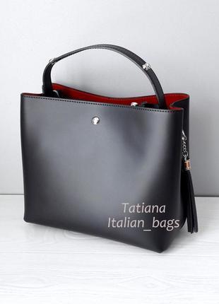 Новинка. модная кожаная сумка мини формат. италия.