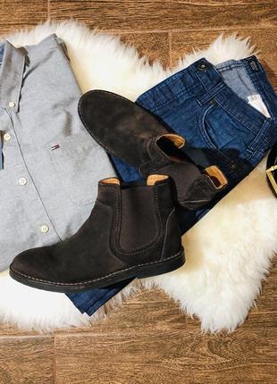 Кожаные высокие ботинки оригинал navy boot