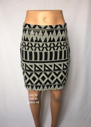 Клубная юбка в пайетках