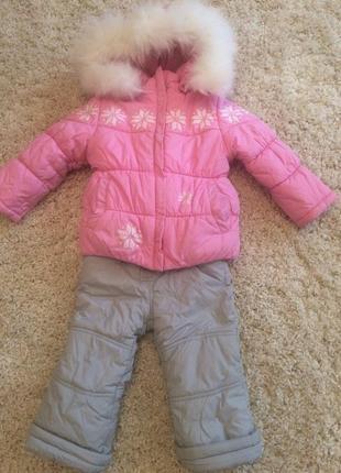 Зимний комплект комбинезон и курточка