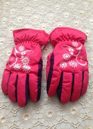 Фирменные glissade лыжные перчатки на 13 лет