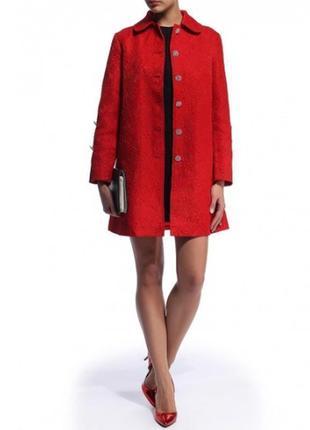 Пальто lamania весеннее плащ красный брендовое