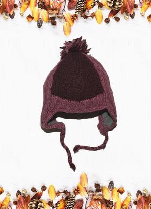 Очень теплая фиолетовая шапка uttamlondon