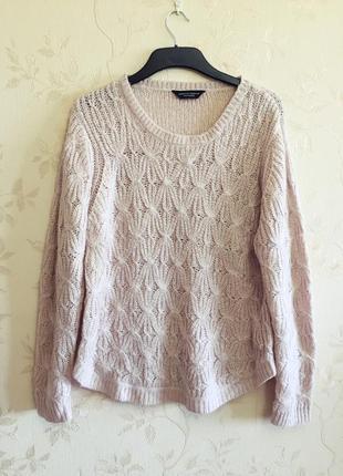 Мягкий свитерок пудрового цвета doroty perkins, большой размер (uk20 - наш 54)