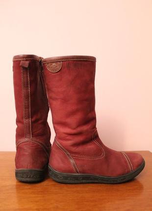 Кожаные зимние сапоги с натуральным мехом от бренда mollio! ортопедические!
