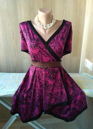 Красивая яркая блуза туника от joanna hope, батал, большой размер 56-58-60