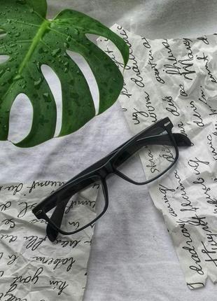 Имиджевые очки с прозрачным стеклом необычный дизайн прямоугольные классические