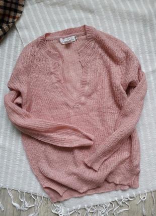 Нежно-розовый свитерок h&m