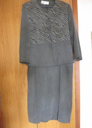 Женский костюм (платье+жакет/пиджак)