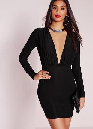 Лаконичное платье с длинным рукавом missguided ms217