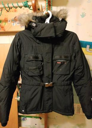 Зимняя лыжная женская теплая куртка
