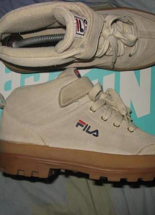 Ботинки сапоги fila оригинал размер 39 по стельке 25 см без дефектов замша