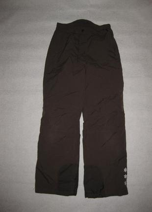 146-152 рост, зимние лыжные термо штаны alive коричневые