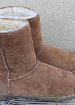 Угги ugg замша оригинал 36р ботинки зимние