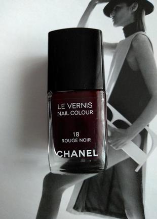 Лак chanel 18 rouge noir