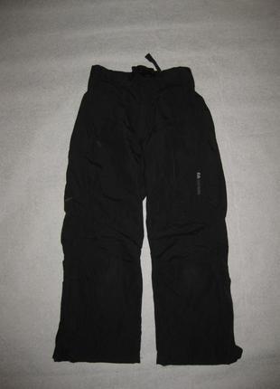 9-10 лет, штормовые лыжные штаны didriksons без утеплителей