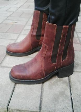 Новые брендовые , кожаные ботинки,сапоги,25,5-26см/39р./ wrangler