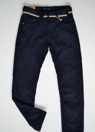 Еплые брюки для мальчика на флисе синие р.152,164 (арт.505)