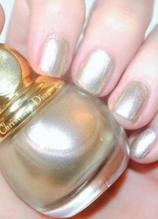 Лак для ногтей dior diorific vernis 227 gris-or лимитка