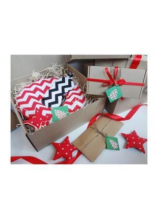 Двухсторонняя подушка для путешествий из плюша и хлопка - зигзаги, подарок на новый год
