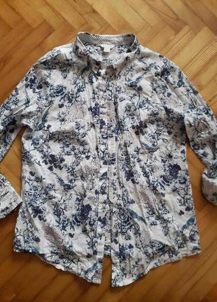 Хлопковая блуза в принт от monsoon! p.-44