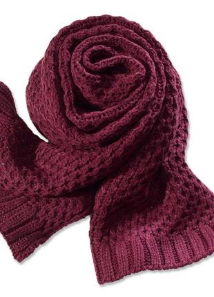 Большой теплый шарф от тсм tchibo, германия., размер 200 на 30 см