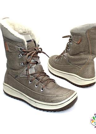 Ecco sko gore-tex кожа мембранные ботинки 40 р оригинал