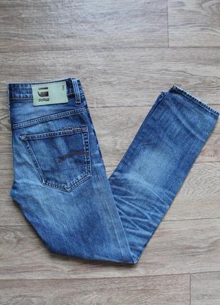 Стильные оригинальные джинсы g-star 3301 slim размер w28/l32