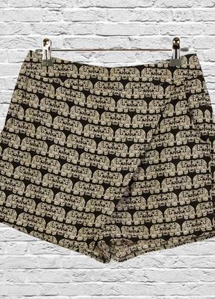 Шорты-юбка с пинтом, короткие шорты