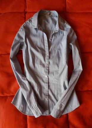 Качественная,стильная рубашка в мелкую,нежную полоску