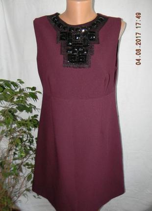 Платье с украшением осеннее  f&f