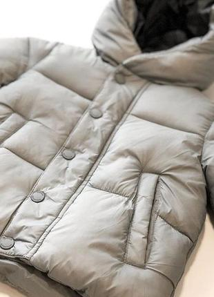 Куртка на мальчика серого цвета zara