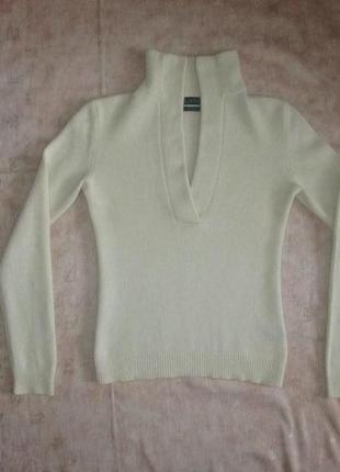 Кашемировая кофта ralph lauren оригинал свитер 100% кашемир р. s - m