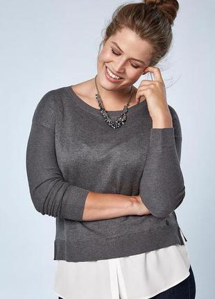 Стильный оригинальный женский пуловер р. 44-46 от tchibo