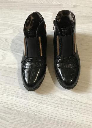 Осенние лаковые ботинки