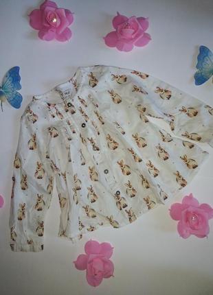 Блузка рубашка для девочки next