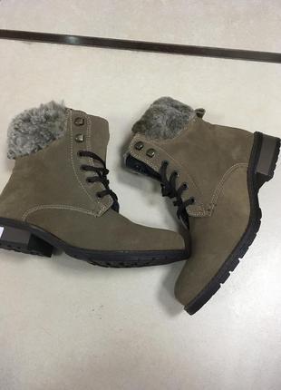 Замшеві утеплені черевички s&g р-37
