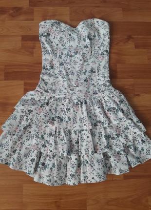 🔥акция дня🔥красивое джинсовое платье бюстье в принт+🎁шикарное платье с паетками