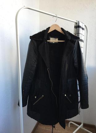 River island парка,куртка,пальто,эко кожа ,100%cotton хлопок