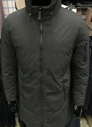 Спешите заказать стильную зимнюю куртку armani. есть вариант без логотипа.