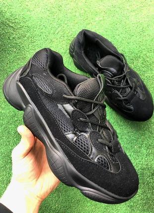 Кроссовки - черные замшевые ( заменитель )