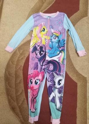 Кигуруми, пижама с пони на 5-6 лет