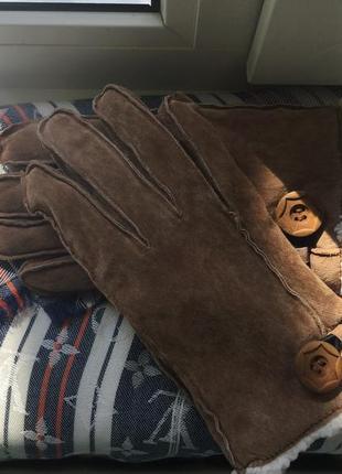 Кожаные, базовые перчатки, тёплые, качественные, варежки, рукавицы