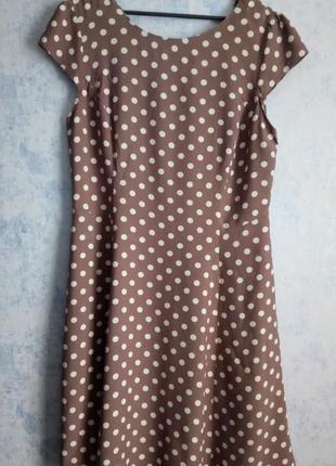 Струящееся платье из вискозы в горох размер uk 12